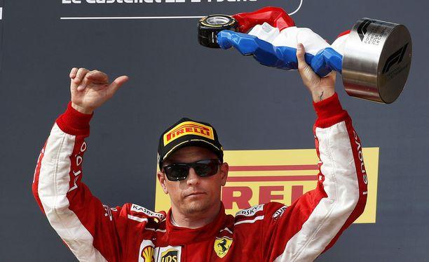 Ranskan kolmossija oli Kimi Räikköselle kauden neljäs palkintopallisijoitus.