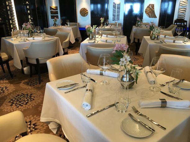 Aluksen ravintoloissa on mistä valita. Tässä ylellisessä The Haven -sviittiluokassa matkustavien oma ravintola.