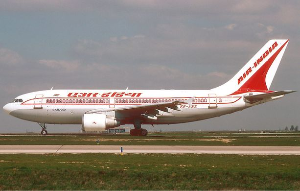 Turmakone oli mallia Boeing 737-800. Kuvassa Air Indian Airbus A310-300.