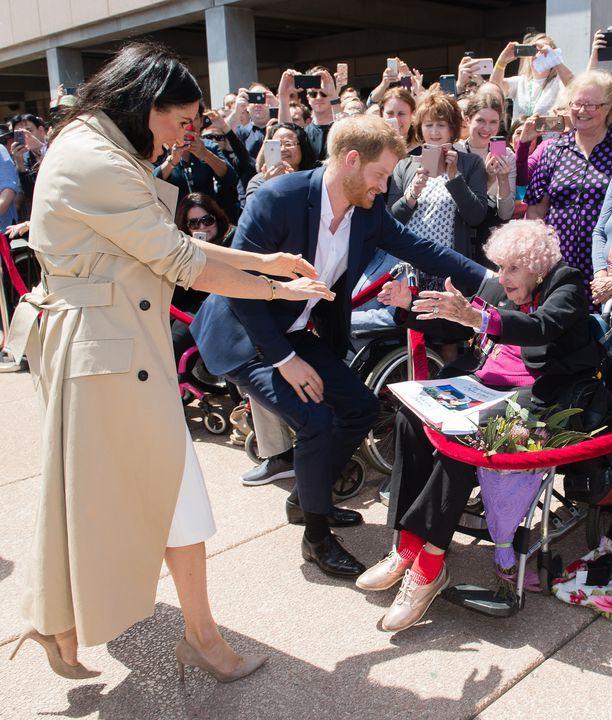 Prinssi Harry esitteli vaimonsa Meghanin rouva Dunnelle lokakuussa.