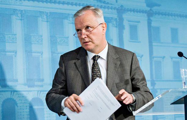 Elinkeinoministeri Olli Rehnillä on iso rooli hallituksen taholta kun yhteiskuntasopimusta yritetään taas kerran.