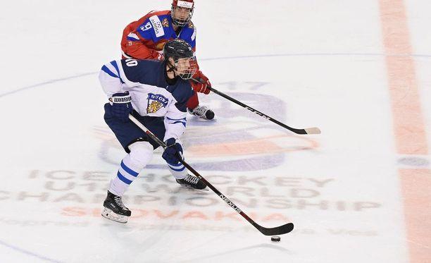 Suomen Kristian Vesalainen on kiinni MM-turnauksen pistepörssin voitossa.