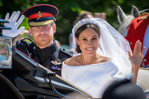 Herttuatar Meghan ja prinssi Harry avioituivat toukokuussa 2018.
