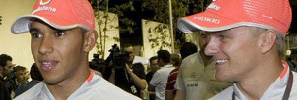 Heikki Kovalainen (oik.) onnistui harjoituksissa. Jatkuuko vire aika-ajoissa?