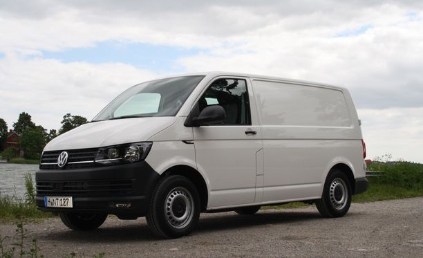 Volkswagenin Transporter -mallin auto. Kuvituskuva.