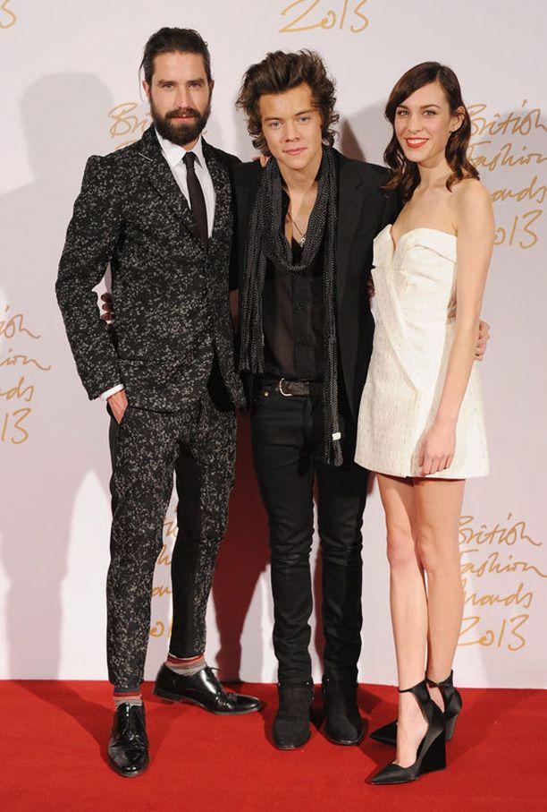 Jack Guinness, Harry Styles ja Alexa Chung.