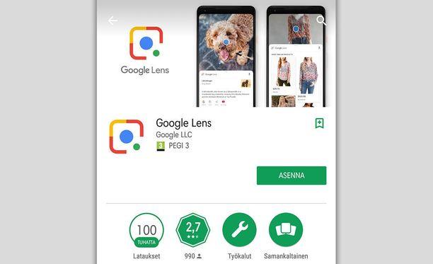 Google Lens on saapunut Android-kauppaan.