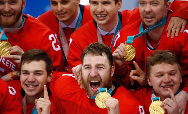 Venäläiset olympiaurheilijat voitti jääkiekon olympiakultaa.