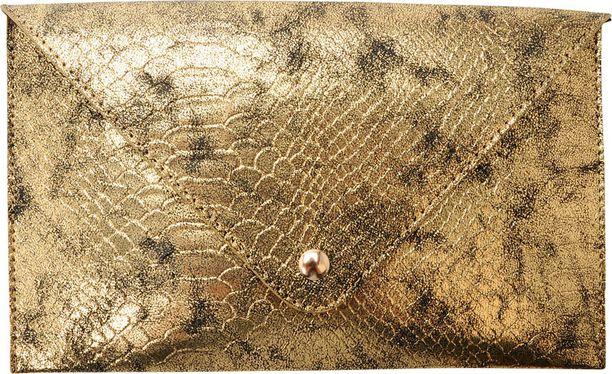 Patinoitunut pinta tekee kultalaukusta monikäyttöisen. Bianco Gear, 19,95 €