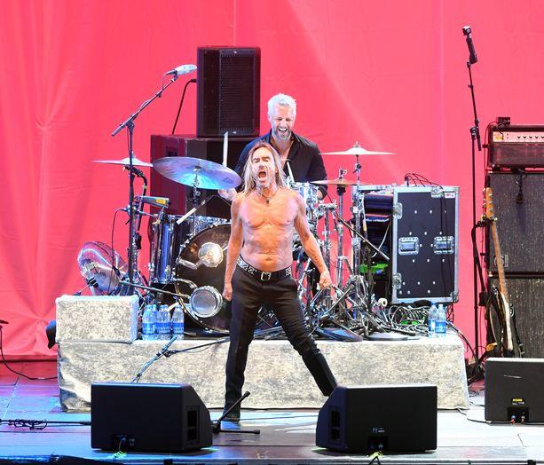 Raivokas esiintymistyyli on Iggy Popin tavaramerkki.