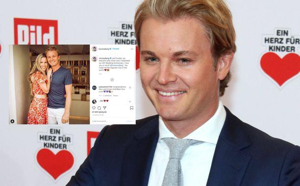 Nico ja Vivian Rosberg ovat olleet naimisissa kuusi vuotta.