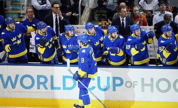 Ruotsi voitti World Cupin alkulohkossa Suomen ja Venäjän.
