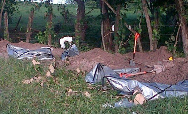 Meksikon Veracruzista on aiemminkin löytynyt joukkohautoja. Tämä kuva on vuodelta 2014.