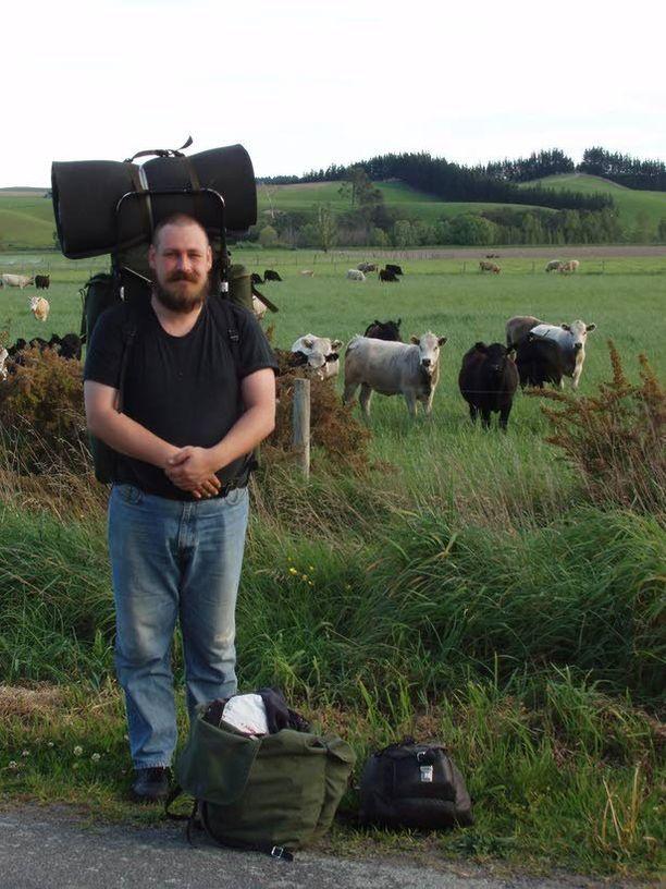 Peukalokyytiä odottamassa Uudessa Seelannissa vuonna 2005.