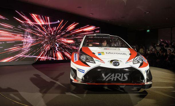 Toyota esitteli MM-rallitallinsa Finlandia-talossa Helsingissä.