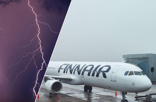 Salama iski sunnuntaina Finnairin koneeseen, joka joutui palaamaan takaisin Helsinki–Vantaan lentokentälle.