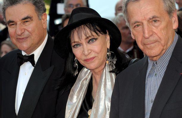Anna Karina edusti Cannesin elokuvajuhlilla vuonna 2009.