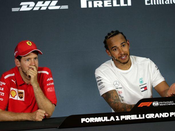 Sebastian Vettel ja Lewis Hamilton taistelivat Kanadan GP:n voitosta.