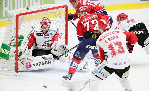 Patrik Carlsson teki HIFK:n voittomaalin jatkoajalla.