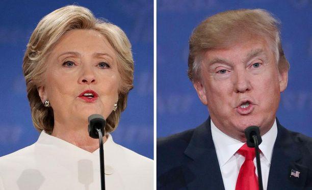 Hillary Clinton ja Donald Trump kävivät vaalitaistossa tulista sanasotaa molemmat omalla tyylillään.