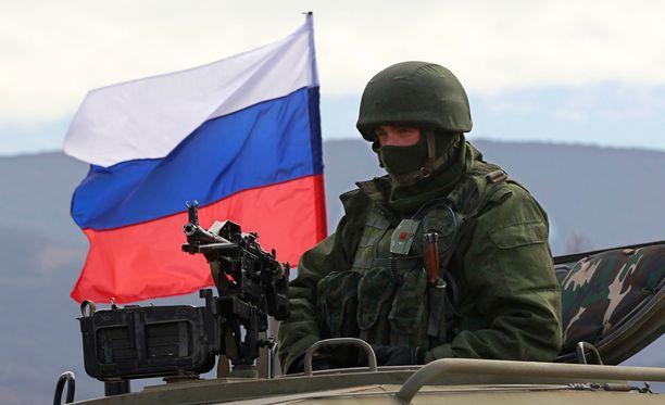 """""""Vihreät miehet"""" saapuivat Krimille viime vuoden maaliskuussa."""