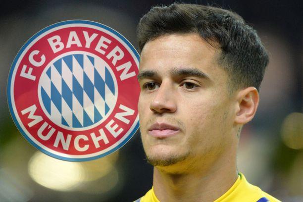 Philippe Coutinho on siirtymässä FC Bayernin riveihin.