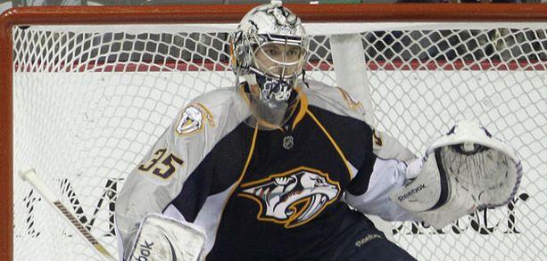 Pekka Rinne valittiin ottelun kolmanneksi parhaaksi pelaajaksi.