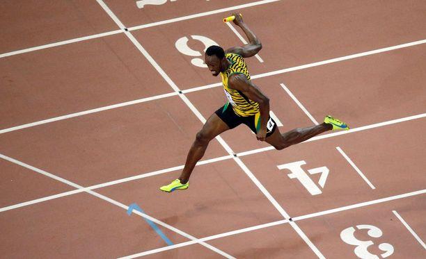 Usain Boltin askeleessa riittää pituutta.
