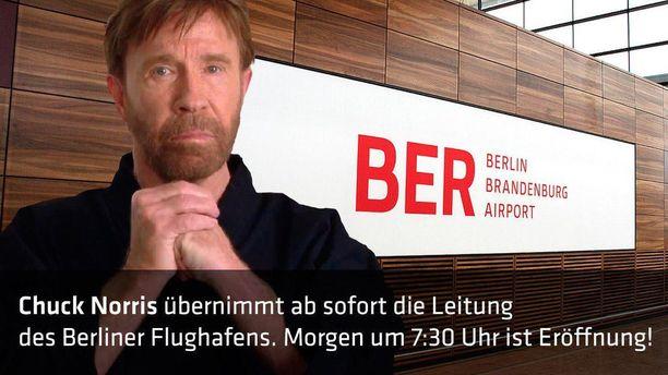 Chuck Norris -vitsit ovat tavoittaneet Berliinin kentän.