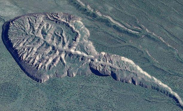 Batagaikan kraatteri on sammakon nuijapään muotoinen.