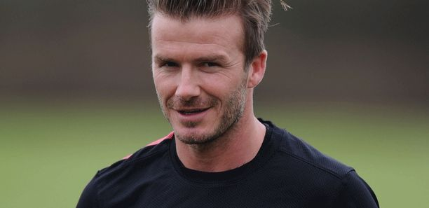 David Beckham on harjoitellut tammikuussa Arsenalin kanssa.