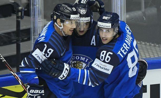Sebastian Aho johtaa Suomen hyökkäyspeliä.
