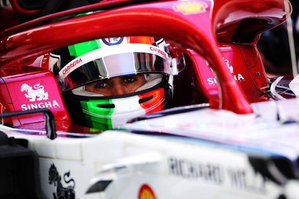 Antonio Giovinazzin GP-harjoitukset menivät täysin mönkään.
