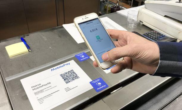 MobilePaylla lounaan maksaminen hoituu nopeasti QR-koodin tai puhelinnumeron avulla.