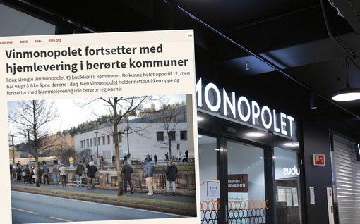 Viinakaupat suljettiin Oslossa, mutta ihmiset lähtivät naapurikuntiin: Kuvat jättijonoista kuohuttavat Norjassa