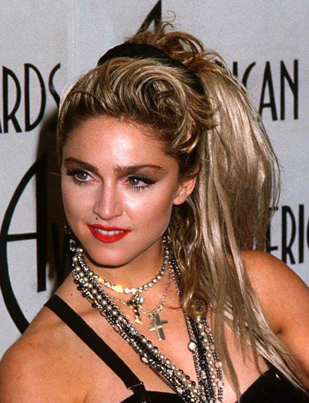 Tältä Madonna näytti vuonna 1985. Vuotta aiemmin julkaistiin kappaleet Like a Virgin ja Material Girl.