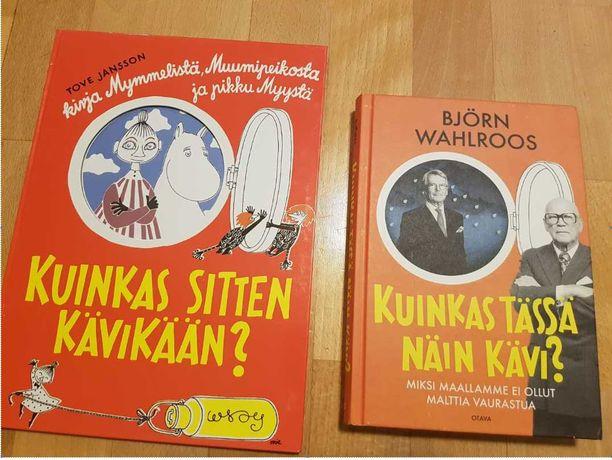Björn Wahlroosin uusimman kirjan kannessa on paljon yhtäläisyyksiä Tove Janssonin vuonna 1952 ilmestyneeseen muumikirjaan.