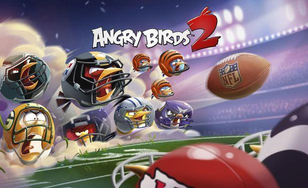 Amerikkalainen jalkapallo löysi tiensä myös Angry Birds -peleihin.
