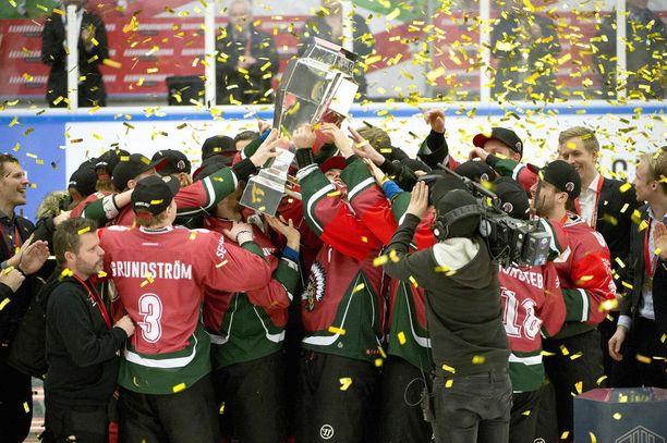 Frölunda Indians voitti CHL:n 2017 ja 2016.