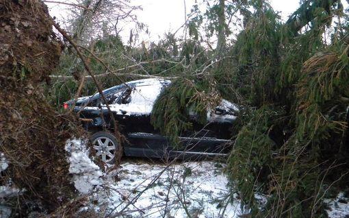 Aapeli-myrsky vaati ensimmäisen kuolonuhrinsa - 45-vuotias mies kuoli Ahvenanmaalla