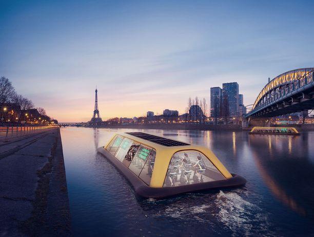 Italialaisyhtiön suunnittelema alus on tarkoitus sijoittaa Pariisiin, koska sen luojien mielestä kaupungissa suhtaudutaan edistyksellisesti kuntoiluun.