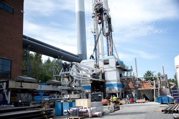 Espoon Otaniemessä sijaitsee myös geoterminen maalämpölaitos. Kuvituskuva.