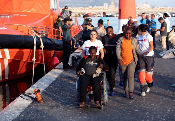 58 turvapaikanhakijaa saapui maanantaina Motrilin satamaan Espanjan Granadaan. (Kuvituskuva)