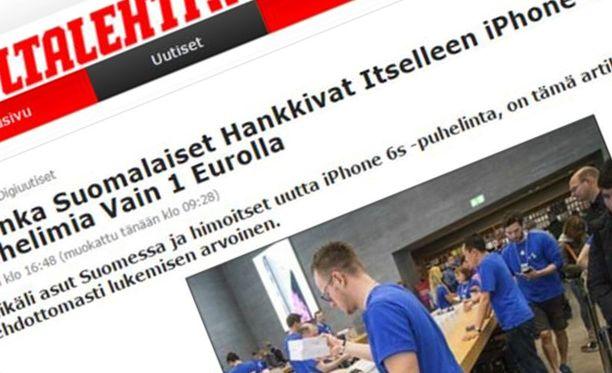 Huijaussivusto on naamioitu näyttämään Iltalehden sivuilta.