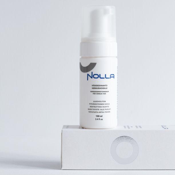 Nolla käsidesivaahto on tuoksuton ja hajusteeton, eikä se kuivata ihoa.