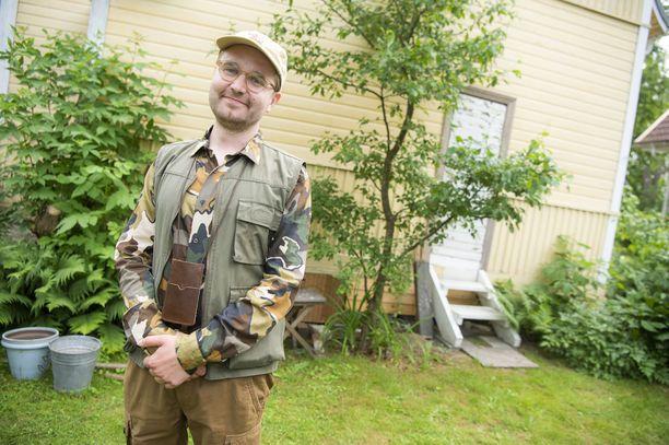 Joonas Nordman näyttelee jälleen hyönteisistä innostunutta perheenisää.
