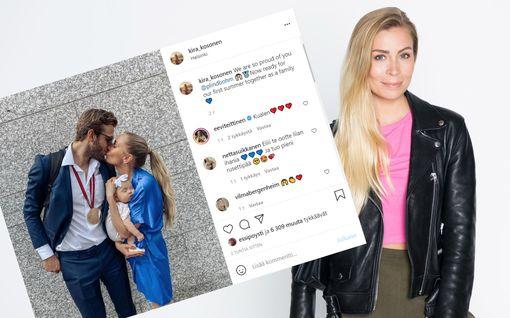 Kiekkoilija Petteri Lindbohm pääsi kotiin tyttärensä luo – vaimo Kira Kosonen julkaisi suloisen perhepotretin