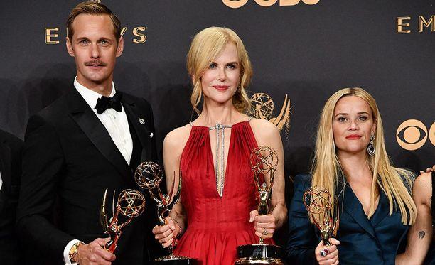 Alexander Skarsgård, Nicole Kidman ja Reese Witherspoon.