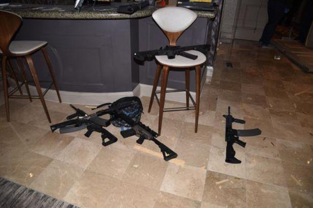 Ampujan sviitissä oli yhteensä 23 tuliasetta.