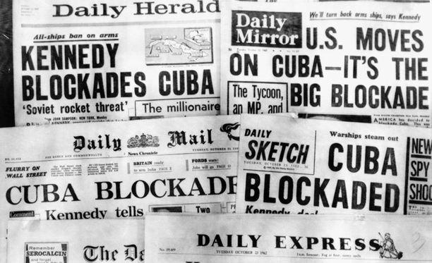 Yhdysvallat asetti Kuuban kauppasaartoon ohjuskriisin seurauksena.